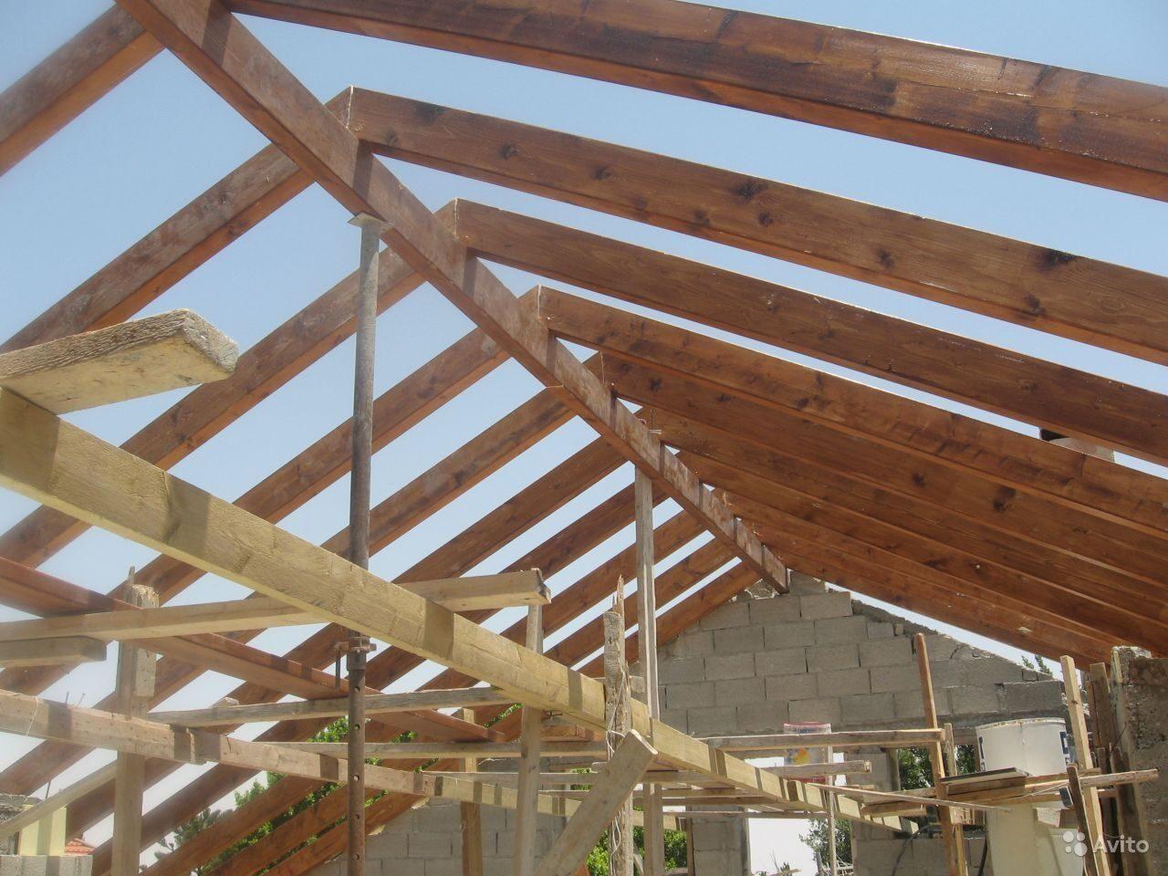 Строительство односкатных крыш бесчердачных своими руками